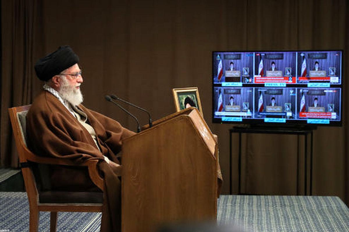 تصاویر: پخش زنده سخنان رهبر انقلاب بهمناسبت روز جهانی قدس