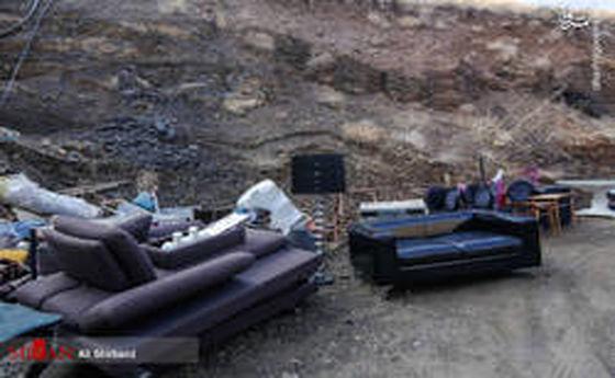 تخریب ویلای جنجالی در اوشان - فشم +عکس