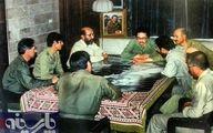 عکس: بنی صدر و شهید چمران در جلسه اتاق جنگ