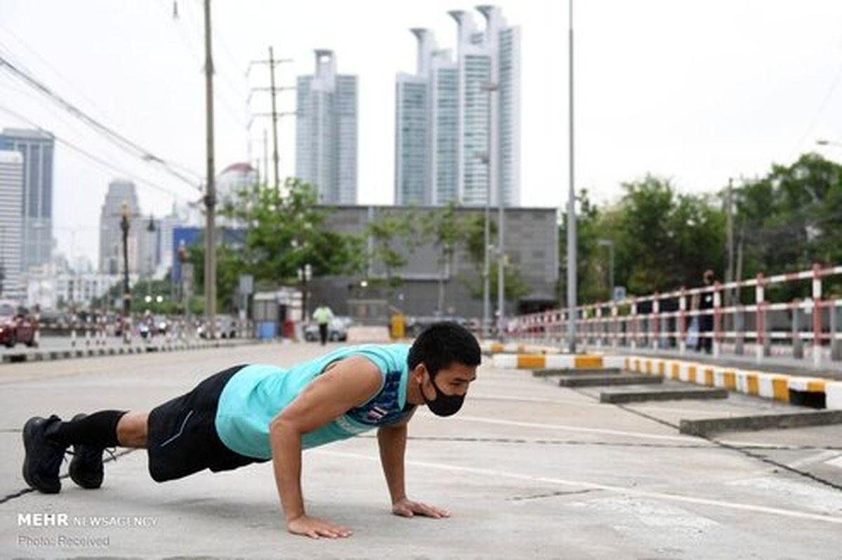 تصاویر: تمرینات ورزشکاران المپیکی در قرنطینه