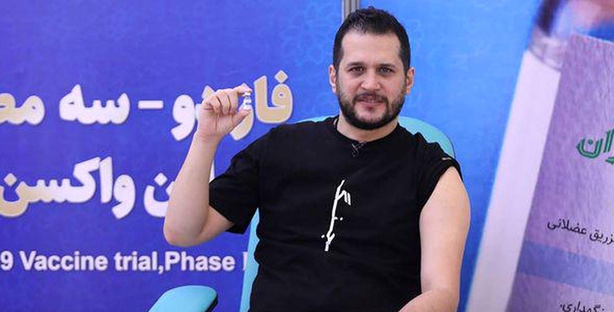 بازیگر جوان داوطلب واکسن ایرانی کرونا شد +عکس