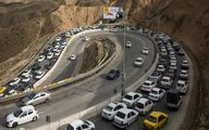ترافیک سنگین در مسیر بازگشت مسافران شمال / بارش باران در 5 استان