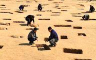 ماسک طلای ۳ هزار ساله در چین + عکس