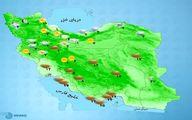 باد و باران  و یخبندان در ۲۱ استان +نقشه
