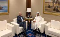 ظریف در دیدار با همتای قطری چه گفت؟