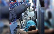 کفخوابی اتوبوسی مسافران نوروزی! +عکس
