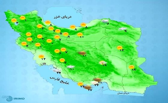 افزایش دما در اغلب شهرها +نقشه