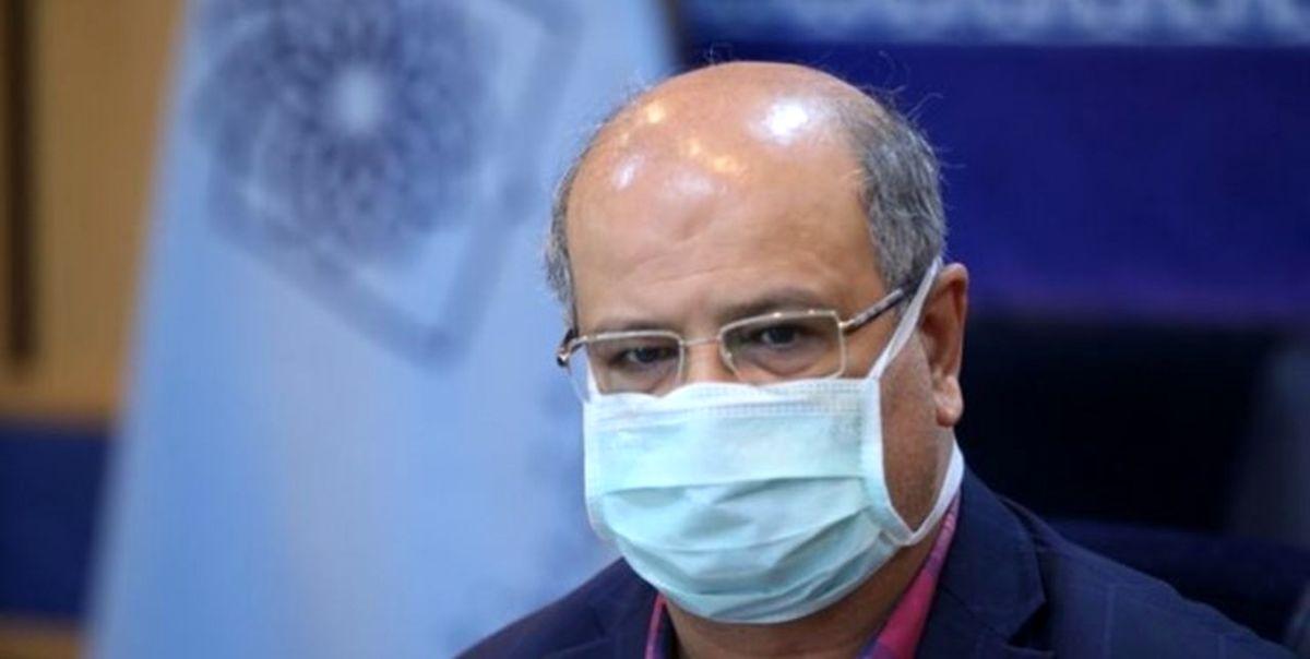 زالی: تختهای تهران در حال پر شدن است