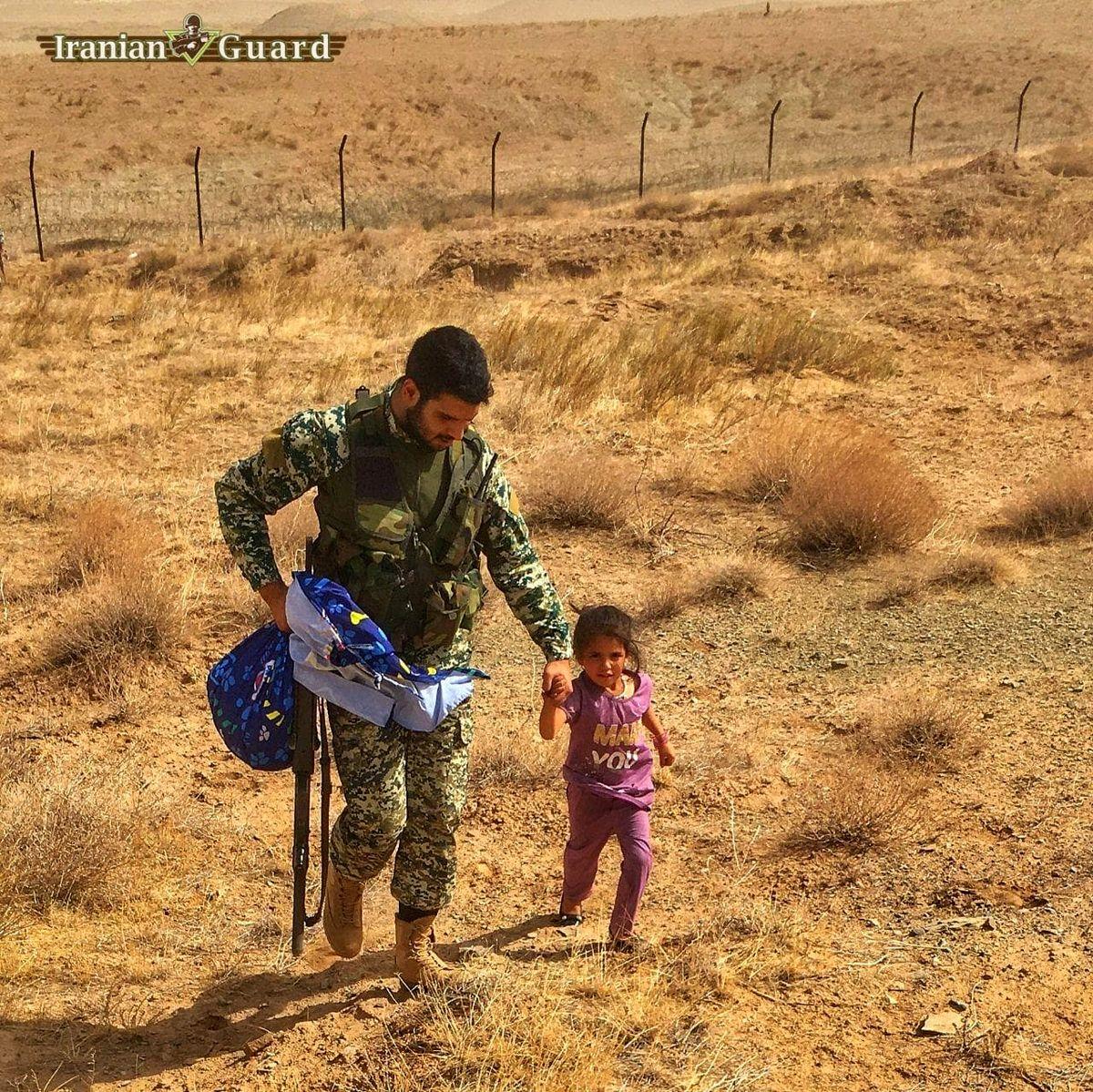 تصویری جالب از نقطه صفر مرزی ایران و افغانستان