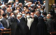 تصویری از حضور رییسی و همراهانش در مجلس
