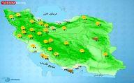 خُنک شدن ۹ درجه ای هوا در این استانها +نقشه