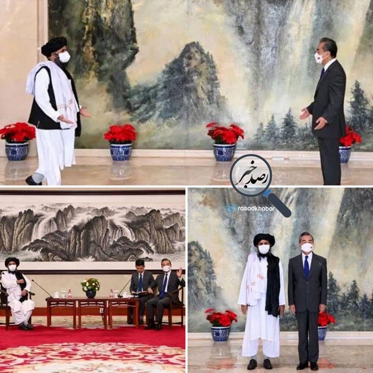 تصاویرى از دیدار وانگ یى و ملا برادر در پکن