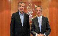 توئیت گروسی پس از دیدار با رئیس سازمان اتمی ایران