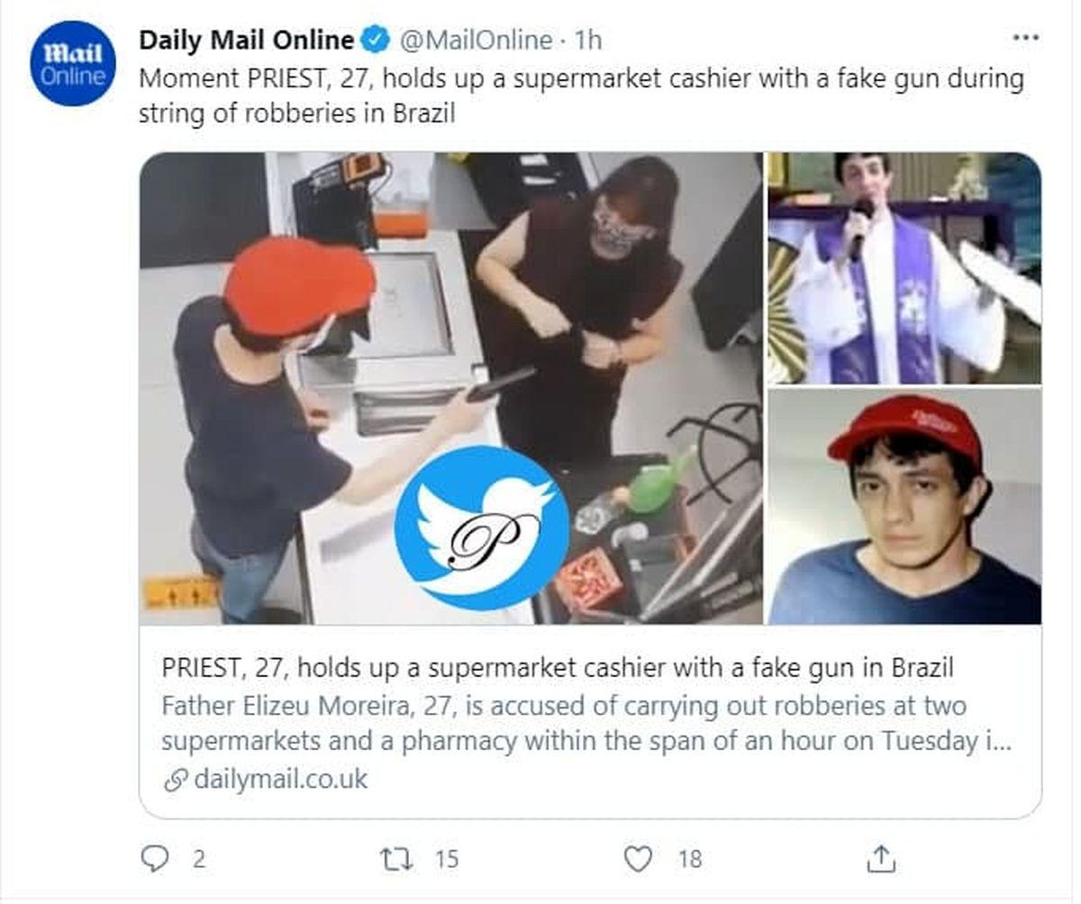 بازداشت کشیش به جرم سرقت با اسلحه قلابی!