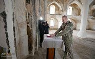 تصاویر: بازدید الهام علی اف از مسجد تاریخی آغدام