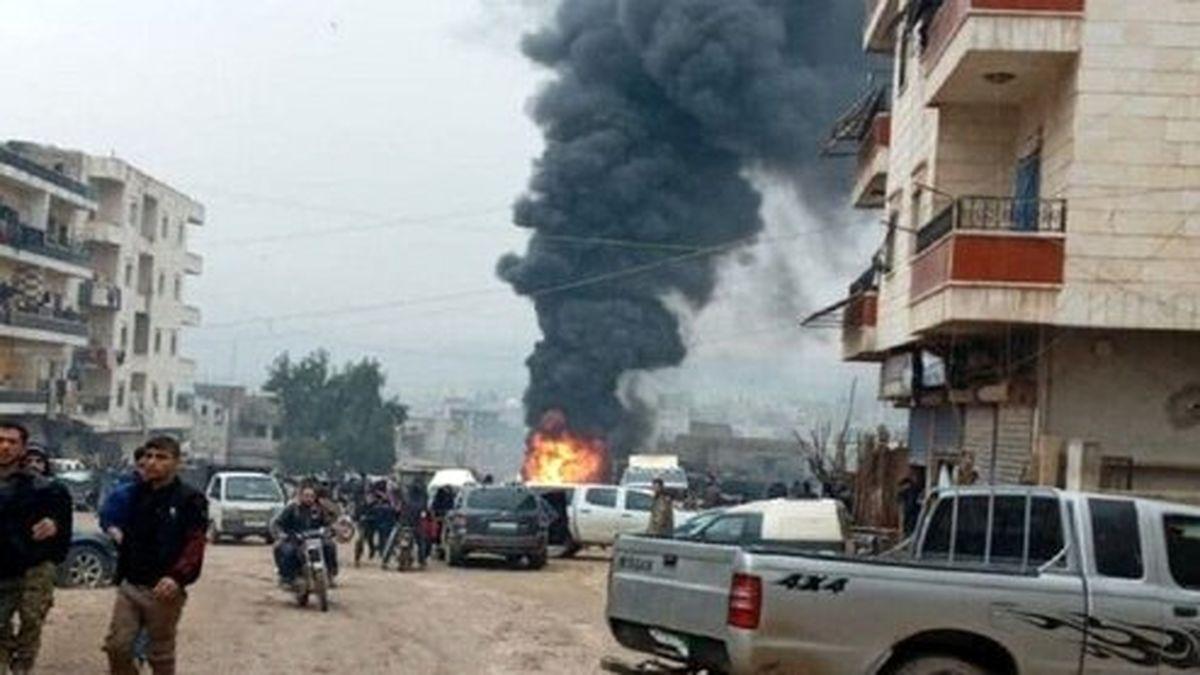 انفجار خودروی بمبگذاری شده در عفرین سوریه