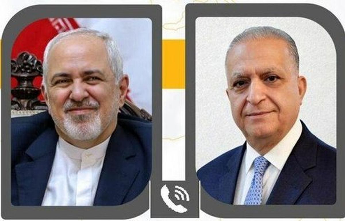 ظریف با همتای عراقی خود گفتگو کرد