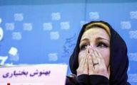 اشکهای بهنوش بختیاری برای همسرش! +فیلم