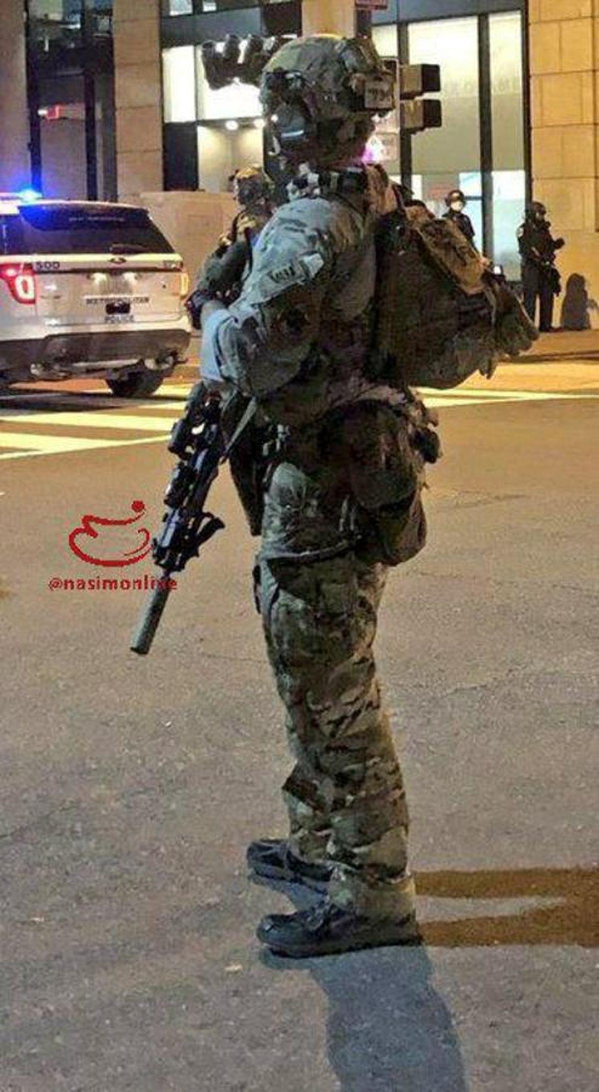 عکس: استفاده صدا خفه کن در اسلحههای نظامیان در واشنگتن