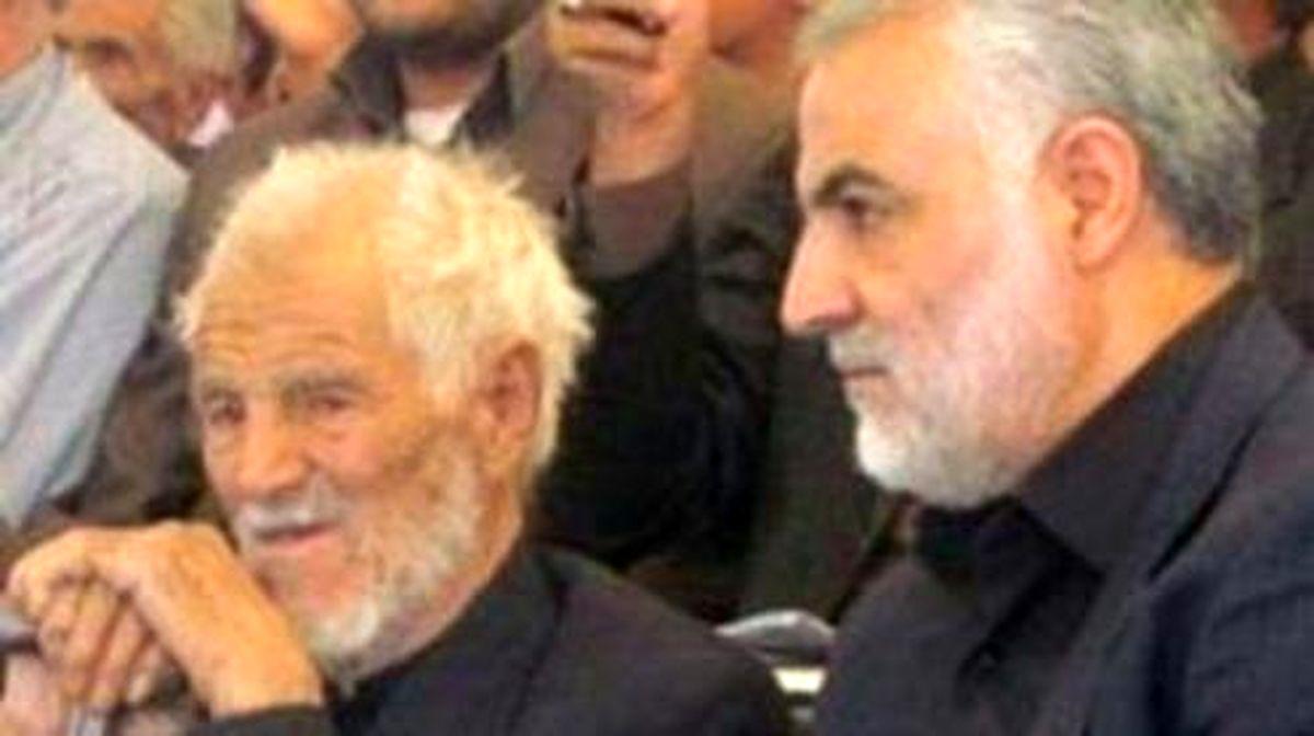 احترام عجیب حاج قاسم موقع روبرو شدن با پدرش +فیلم