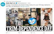 عکس: حمله نصف شب مردم انگلیس به سلمانیها