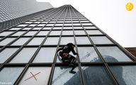 تصاویر: مرد عنکبوتی از آسمانخراش توتال بالا رفت
