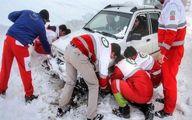 امداد رسانی به ۲۹۱۸ نفر در برف و کولاک