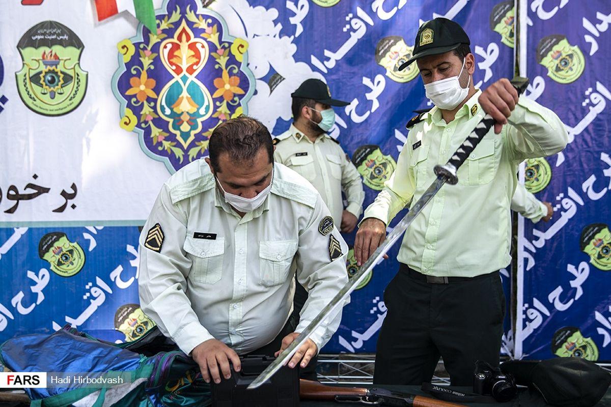 شمشیر سامورایی اراذل و اوباش تهرانی +عکس